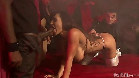 Interracial milf orgy with s d1