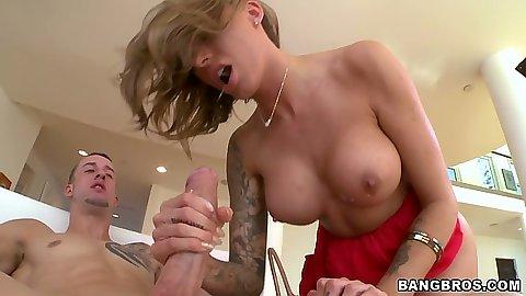 Juelz Ventura big tits blowjob ana anal cock sitting