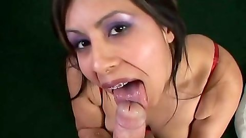 Blowjob latina sucking it Katalina