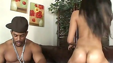 Perfect ebony ass Adicktion blowjob and doggy penetration