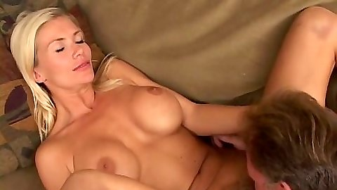 Pussy licking hairy blonde Morgan and a blowjob