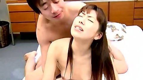 Doggy style asian fuck with sideways entry