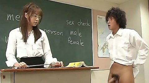 Asian classroom making out session