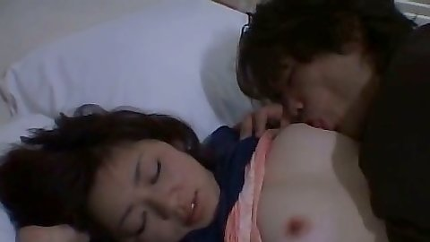 Asian girl gets nipples licked and panties removed