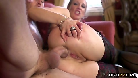 Sideways anal milf fuck for Rebecca Moore