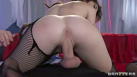 Cowgirl big dick riding with skinny girl Kiera Winters