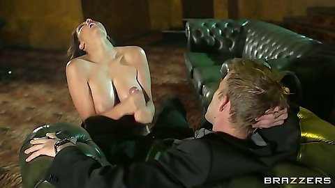 Handjob with big tits Emma Leigh
