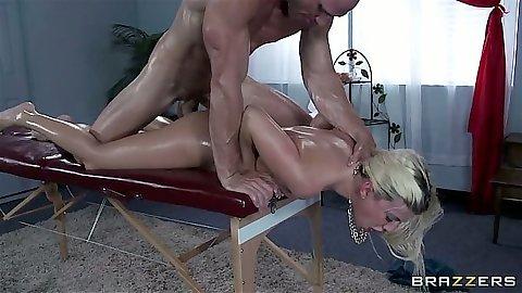 Oil massage rough fuck for small tits Jessie Volt