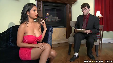 Priya gets offered her shrinks cock as payment