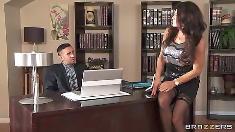 Milf in the office Teri Weigel shows her goods to dude in afterhours