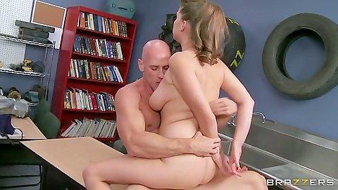 Fucking sitting on dick with chubby school slut Alex Chance