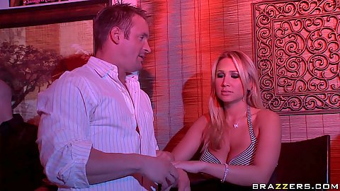 Couple is over at a swingers club for the first time