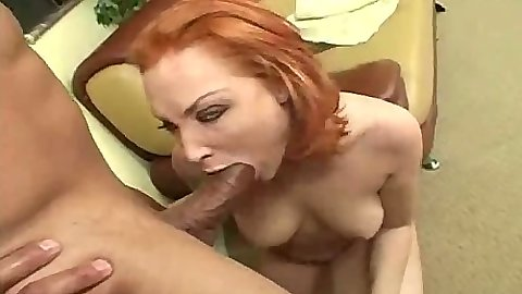 Sexy Vixen redhead blowjob and anal penetration with ass to mouth 69