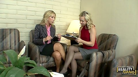 Fully clothed milf backroom undressing with Morgan Ray