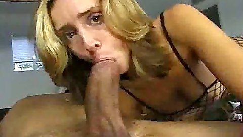 Big dick blowjob with a fucking animal bitch in fishnet