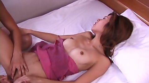 Natural tits asian with hairy vagina gets penetrated