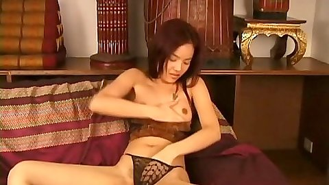 Asian girl and her sexy lingerie panties bringing out the slut in herself