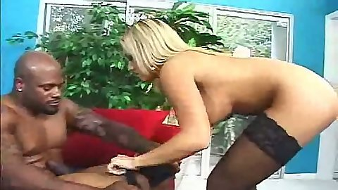 Interracial blowjob with busty Jasmin stroking that shaft