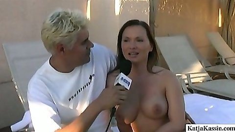 Interview with Katja while she is all naked