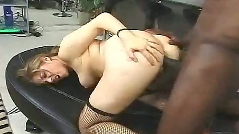 Doggy style including anal for slut Haley in black cock fucking slut white pussy