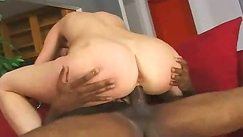 Cowgirl and doggy style with close view for natural tits Phoenix in interracial fuck