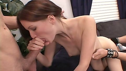 First sex video Melanie gets used by two guys in her trial casting video