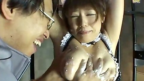 Asian maid fetish prison bondage and voilation for this cutie