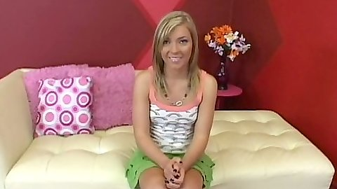 Blonde solo teen Ally Kay first sex video audition fully clothed