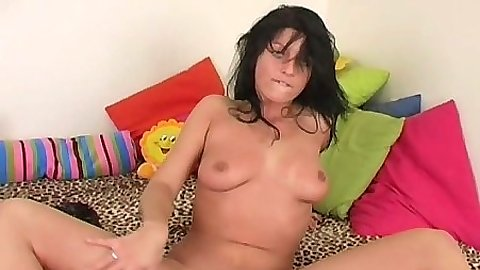Solo natural tits sleepover girl masturbating Nadine