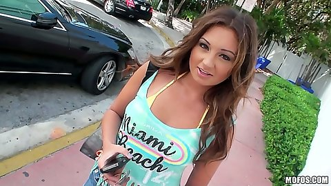 Abella Johnson teen picked up on the street for a quickie