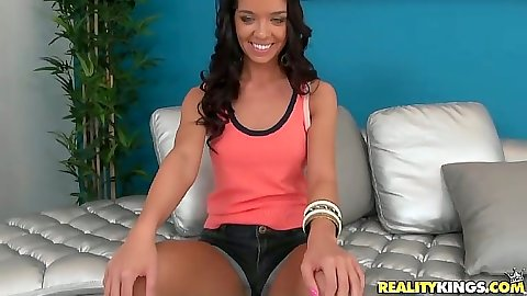 Nice looking Averi Brooks going in her wet panties and pov blowjob suck