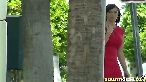Solo milf Danika comes up and pulls up her dress