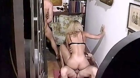 Cowgirl humping chick on dick on the floor in euro orgy