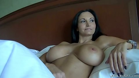 Big tits milf Ava Addams makes out with man in bed
