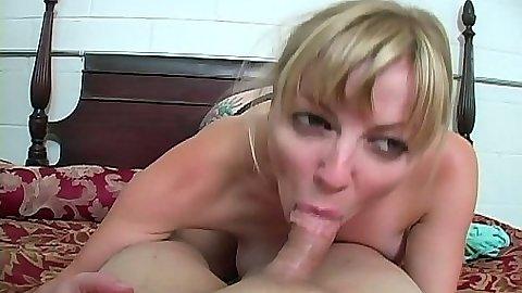 Teen blowjob on her knees in panties with Adrianna Nicole
