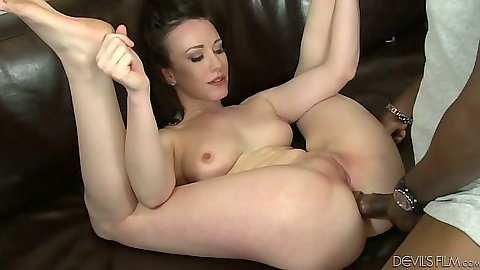 Anal deep front entry in interracial group session with Jennifer White