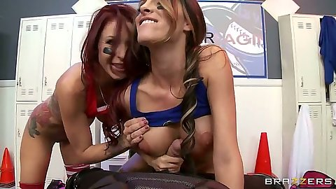 Pov threesome handjob with sporty chicks Monique Alexander and Kortney Kane