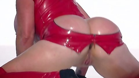 BIg ass in oil and sexy latex with Nikki Benz