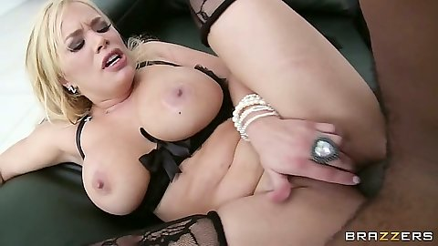 Shyla Stylez enjoys a white pussy black cock entry with girlfriend exchange