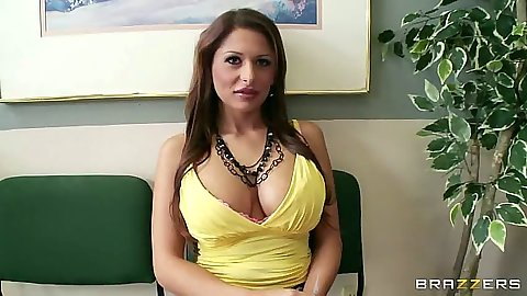 Big tits Allison Star visits the doctor for her strip naked exam