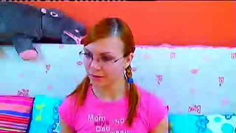 Cute young sweet kiss amateur talking on webcam