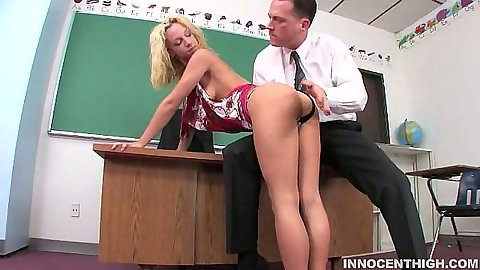 Teacher and student classroom fuck from blond Jada Stevens