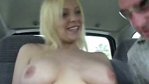 Teen picked up for a backseat blowjob ride Danielle Delights