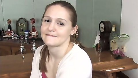 First timer shy teen Faith Starr sucks it down like a pro