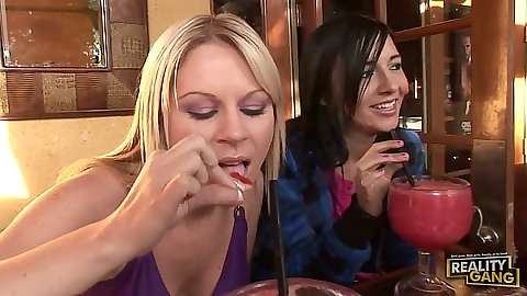 Clothed babes Ahryan Astyn and Ashli Orion and Sindee Jennings having a bite the go to fuck