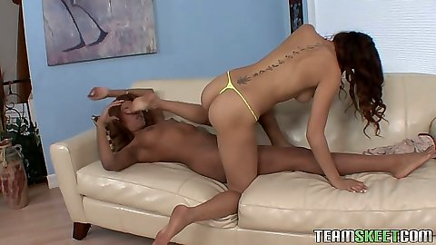 69 skinny black lesbians eating snatch and kissing Emily and Florence