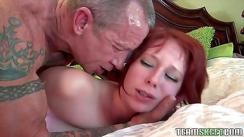 Rough sex redhead getting nailed from behind Zoe Nixon