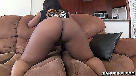 Big round black booty solo touching Layla Monroe