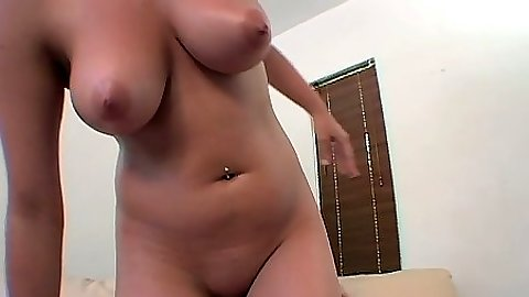Chrissy and her big natural tits climb on dick for cowgirl ride