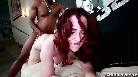 Redhead black cock white girl fuck with oil hardcore Lily Sincere